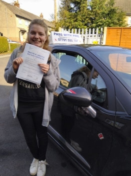 Huge congratulations to Beth who passed her test this morning in Buxton at the first attempt and with only 2 driver faults She joins the exclusive club of passing both theory and driving test first time Itacute;s been great helping you achieve your goal Enjoy your independence and stay safe