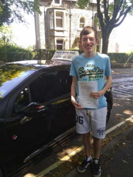 Huge congratulations go to Brad who passed his driving test today in Buxton and with only 5 driver faults Well done bud great drive Its been great taking you for lessons thoroughly enjoyed it Enjoy your independence and stay safe All the best for uni in September Take care
