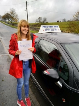 Huge congratulations go to Caitlin who passed her driving test today in Buxton with only 5 driver faults and a day after turning 18. Its been an emotional roller-coaster of a journey, where I´ve seen you grow, develop and mature into a very safe and knowledgeable driver, overcoming serious nerves and anxiety. You worked hard for that and fully deserved it.<br />