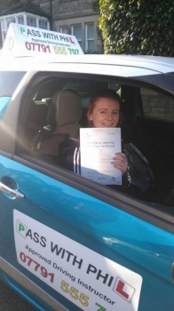 Huge congratulations to Chelsea who passed her driving test this morning in Buxton and with just 7 faults A great drive well done Itacute;s been an absolute pleasure taking you for lessons and helping you achieve your goal Enjoy your independence and stay safe