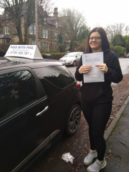 First test of 2019, first pass of 2019. Huge congratulations go to Chloe, who passed her test today in Buxton. Well done, all the hard work paid off. Its been an absolute pleasure taking you for lessons. Enjoy your independence and stay safe.