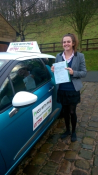 Massive congratulations to Ellen who passed her driving test this morning16th December in Buxton at the first attempt She joins that exclusive club of passing both theory and driving test first time A great drive and with only 5 driver faults Itacute;s been an absolute pleasure meeting you Enjoy your independence and stay safe