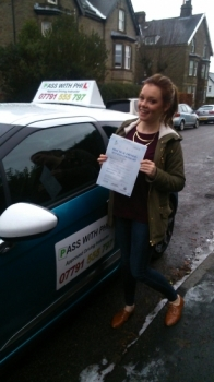 Huge congratulations go to Emily who passed her driving test this morning in Buxton 9th Decemberand with only 1 driver fault A fantastic drive well done Its been lovely meeting you and helping you to achieve your goal Enjoy your independence and stay safe Have a great Christmas and all the best for 2015