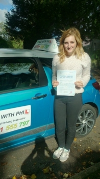 Huge congratulations to a not very well Frankiee who passed her test today in Buxton and with only 2 faults Although feeling under the weather you had a great drive and fully deserved the pass Itacute;s been great meeting you and helping you achieve your goal Enjoy your independence and stay safe