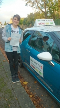 Huge congratulations go to Georgia who passed her driving test in Buxton this afternoon at the first attempt A great drive well done Youve worked so hard for this and thoroughly deserve it Its been an absolute pleasure meeting you and teaching you to drive Enjoy your independence and stay safe Gunna miss ya