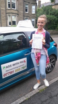 Huge congratulations to Hannah who passed her driving test today in Buxton 12th July at the first attempt and with only 3 driver faults Itacute;s been an absolute pleasure taking you for lessons and helping you achieve your goal Enjoy your independence and stay safe