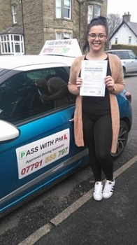 Massive congratulations to Hayley who passed her driving test in Buxton today 11th March A fantastic controlled and safe drive well done Itacute;s been an absolute pleasure taking you for lessons and helping you achieve your goal Enjoy your independence and stay safe Look after yourself when you get back to Liverpool