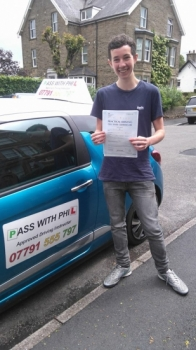 Another first time pass this morning in Buxton for James and with only 2 driver faults So a huge congratulations goes to him and I wish him all the best Itacute;s been an absolute pleasure taking you for lessons and helping you achieve your goal Enjoy your independence and stay safe