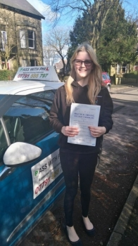 Second pass of the day so 2 out of 2 and this time a massive congratulations to Jess who passed her driving test this afternoon 23rd Febin Buxton and with only 2 faults An emotional day for Jess as her beloved dog was put to sleep yesterday through illness so today was for him Itacute;s been an absolute pleasure taking you for lessons and helping you achieve your goal Enjoy your independ