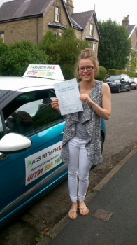 Out with the green and in with the pink Huge congratulations to Kara who passed her test today in Buxton and with only 5 faults So proud of you as I know you were very nervous Iacute;ve enjoyed every lesson weacute;ve had and Itacute;s been an absolute pleasure helping you achieve your goal Enjoy your independence and stay safe