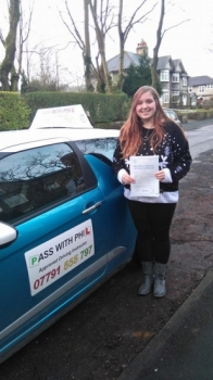 Huge congratulations to Lauren who passed her driving test today 18th December in Buxton at the first attempt and with only 2 faults Itacute;s been an absolute pleasure taking you for lessons and helping you achieve your goal Enjoy your independence and stay safe