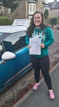 Huge congratulations to Lily who passed her test today in Buxton and with only 1 driver fault amazing well done<br />