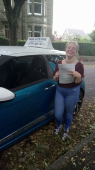 Massive congratulations to Lucy who passed her driving test today in Buxton at the first attempt and with only 4 driver faults She joins the exclusive club of passing both theory and driving test first time<br />