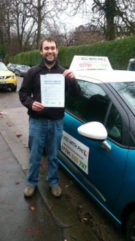 First test of 2015 which resulted in a pass Huge congratulations go to Luke who passed his driving test in Buxton today and with only 3 driver faults Itacute;s been an absolute pleasure meeting you and helping you achieve your goal Enjoy your independence and stay safe