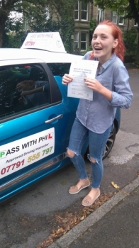 Great start to Monday morning with Naomi passing her test in Buxton12th September at the first attempt and with only 4 minor faults She joins the exclusive club of passing both theory and practical tests first time Itacute;s been an absolute pleasure taking you for lessons and helping you achieve your goal Enjoy your independence and stay safe