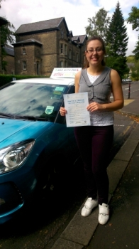 Massive congratulations to Natalie who passed her test in Buxton this morning 20th August A great drive well done Another to join that exclusive club of passing theory and driving test first timeEnjoy your independence take care and stay safe