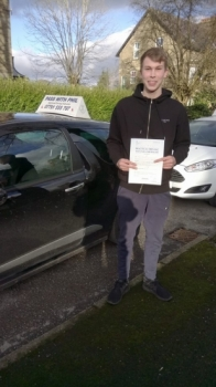 Massive congratulations to Ryan who passed his driving test today in Buxton2nd Feb 2018 Well done on a nice safe drive Its been an absolute pleasure taking you for lessons Enjoy your independence and stay safe