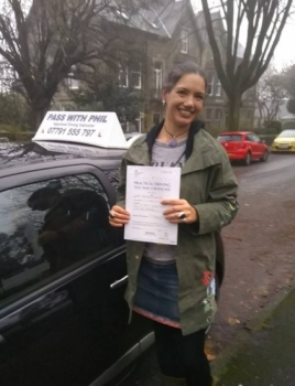 Huge congratulations go to Steph, who passed her driving test today in Buxton in very busy and foggy conditions. A great drive Steph, well done. It´s been an absolute pleasure taking you for lessons. Enjoy your independence and stay safe.