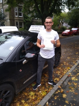Huge congratulations go to Alex, who passed his driving test in Buxton today and with only 1 driver fault. Great effort, well done. It´s been an absolute pleasure taking you for lessons. Enjoy your independence and stay safe.