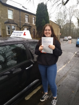 Huge congratulations go to Bethany, who passed her driving test today in Buxton with only 5 driver faults. Its been an absolute pleasure taking you for lessons. Enjoy your independence and stay safe.
