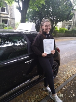 Huge congratulations to Harlie who passed her driving test today in Buxton(12th July) with only 4 driver faults. We got there in the end!<br />
