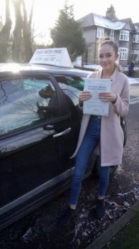 Huge congratulations go to Libby who passed her test in Buxton today and with only 6 faults a great drive well done Always looked forward to our lessons and itacute;s been an absolute pleasure taking you out driving Enjoy your independence and stay safe