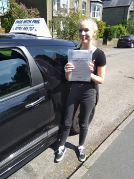 Out with the green and in with the pink Huge congratulations to Olivia who passed her driving test today at the first attempt and with only 7 driver faults I know how much nerves and confidence have played a part in her learning process and Iacute;m so proud of how she held it all together She also joins the exclusive club of passing both theory and driving test first time Itacute;s been an