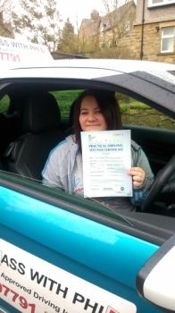 Massive congratulations to Sarah who passed her driving test today in Buxton31st March and with only 6 minor faults A nice controlled drive well done Itacute;s been an absolute pleasure meeting you and teaching you to drive with lots of laughs along the way Enjoy your independence and stay safe All the best